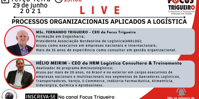 LIVE - PROCESSOS ORGANIZACIONAIS APLICADOS A LOGÍSTICA (29/06/2021)