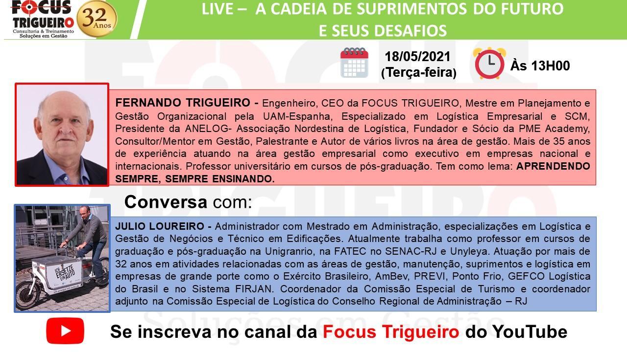 LIVE - A CADEIA DE SUPRIMENTOS DO FUTURO E SEUS DESAFIOS