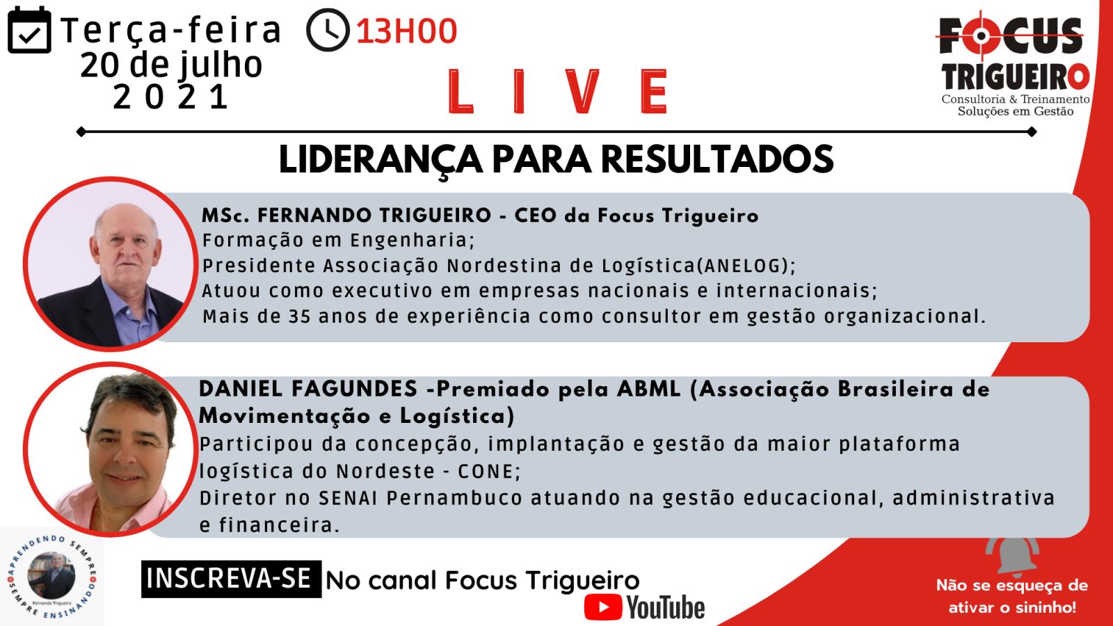LIVE - LIDERANÇA PARA RESULTADOS(20/07/2021)